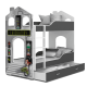 Bunk bed House