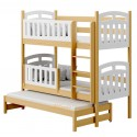 Solid pine wood bunk bed Sofia 200x80 cm