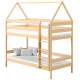 Solid pine wood bunk bed House 190x90 cm