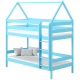 Solid pine wood bunk bed House 200x90 cm