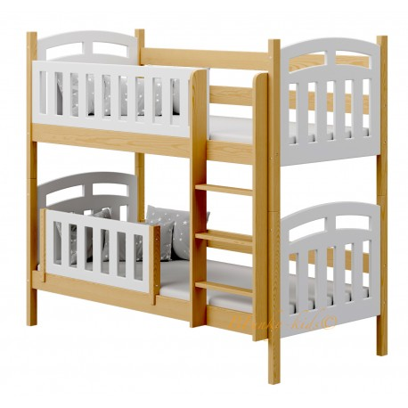 Solid pine wood bunk bed Sofia 2 180x80 cm