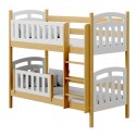 Solid pine wood bunk bed Sofia 2 160x80 cm