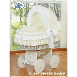 Wicker crib cradle moses basket Bellamy - Cream