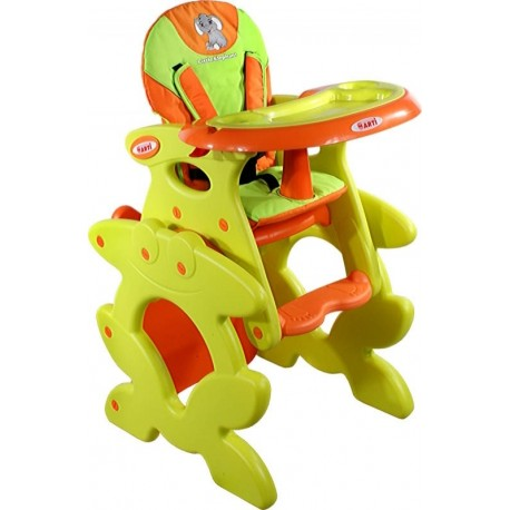 High chair with play table conversion Orange