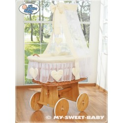Wicker Crib Hearts - Cream