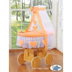 Wicker Crib Hearts - Peach