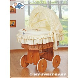 Wicker Crib Teddy - Cream