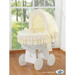 Wicker crib cradle moses basket Teddy - Cream-white