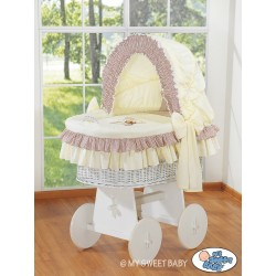 Wicker crib cradle moses basket Teddy - Beige