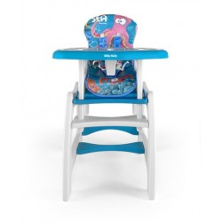 High chair with play table conversion Sea