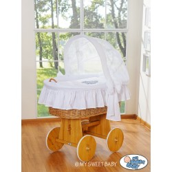 Wicker Crib Glamour - White