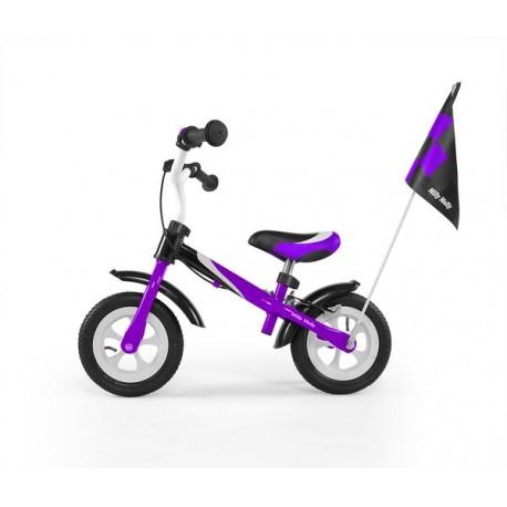 Dragon deluxe- balance bike with brake - purple