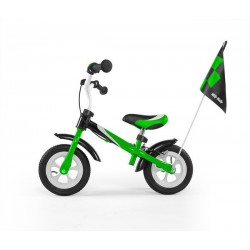 Dragon deluxe - balance bike with brake - green