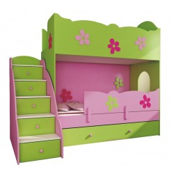 Bunk bed Classic 180x90 cm + stairs