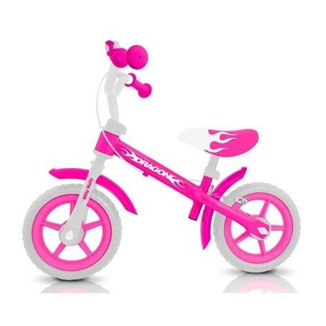 Dragon - balance bike with brake - pink