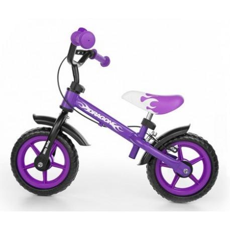 Dragon - balance bike with brake - purple