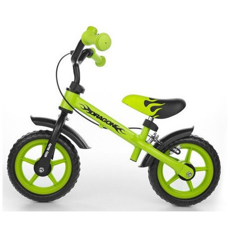 Dragon - balance bike with brake - green