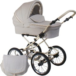 Classic pram Belletti 3 in 1 Natural Linen Collection