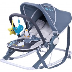 Swing bouncer Aqua grey