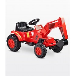 Electric ride-on car Digger red