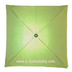 Square umbrella for stroller Green