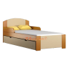 Solid pine wood junior bed Bill1 160x80 cm