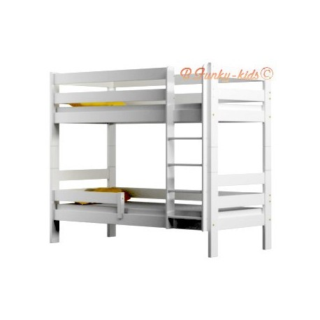 Solid pine wood bunk bed Casper 160x80 cm
