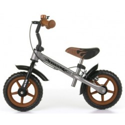 Dragon - balance bike with brake - silver