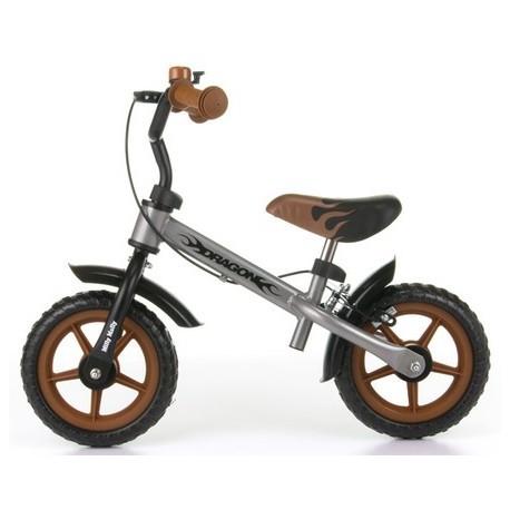 Dragon - balance bike with brake - silver