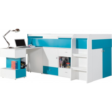 Loft bed mid sleeper bed with desk Mobby 200x90 cm