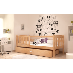 Solid pine wood junior daybed Jacob with drawer 180x80 cm