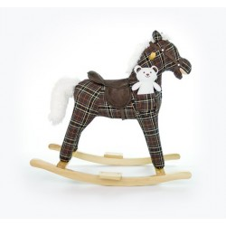 Rocking horse Mustang grid brown