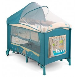 Travel cot with changer Mirage Blue Beach
