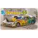 Racing Car junior bed 180x90 cm