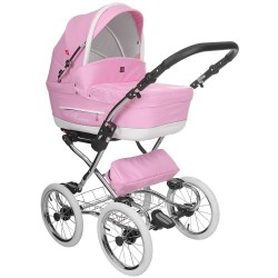 Classic pram Turran Eco Pink Leather 3 in 1 travel system