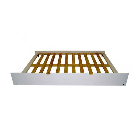 Under bed roll-out trundle drawer as a second bed