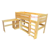 Loft bed mid sleeper bed with desk Bella 200x90 cm