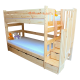 Solid pine wood bunk bed with stairs Enrique 200x90 cm