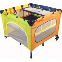 Playpen and travel cot twin doubles square 2 in 1 Rainbow