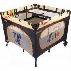 Playpen and travel cot twin doubles square 2 in 1 Navy