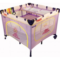 Playpen and travel cot twin doubles square 2 in 1 Purple Princess