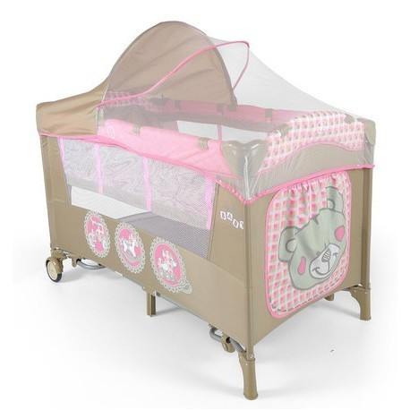 Travel cot with changer Mirage Pink Toys