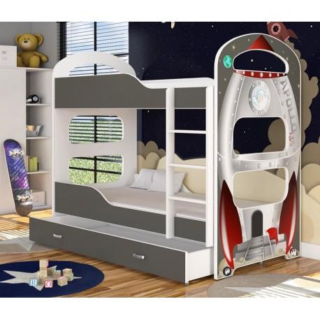 Bunk bed with mattresses Dominique Apollo