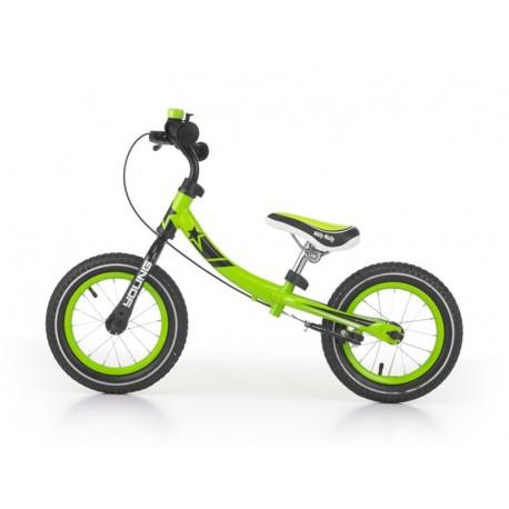 Young - balance bike with brake - green