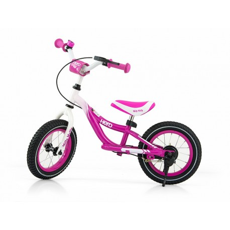 Hero - balance bike with brake - pink