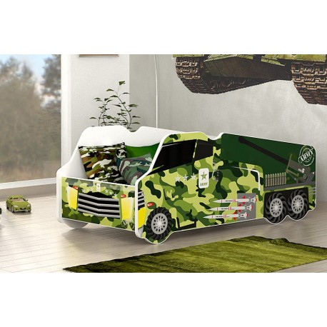 Army Truck junior bed with mattress 140x70 cm