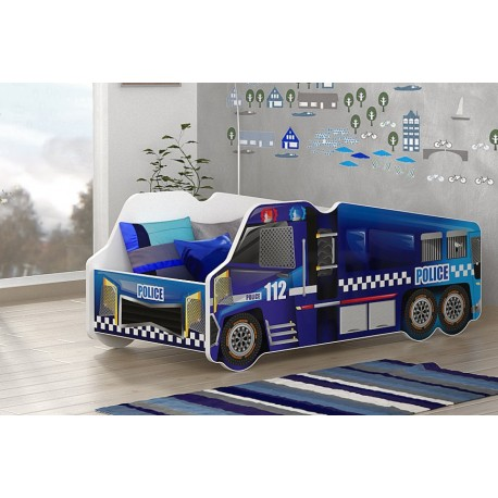Police Truck junior bed with mattress 140x70 cm