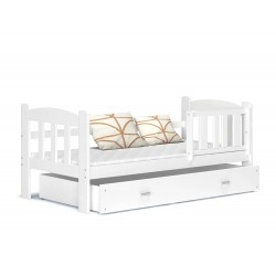 Solid pine wood junior daybed Teddy with drawers 160x70 cm