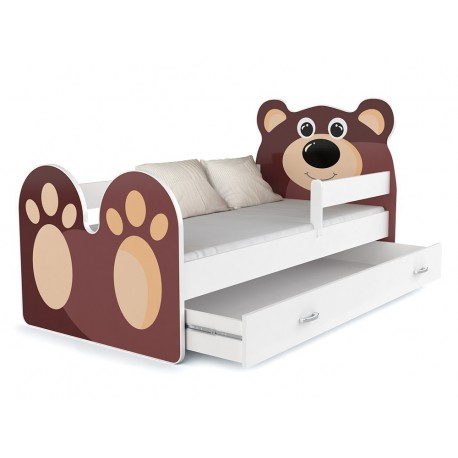 Toddler junior bed Bear with drawer