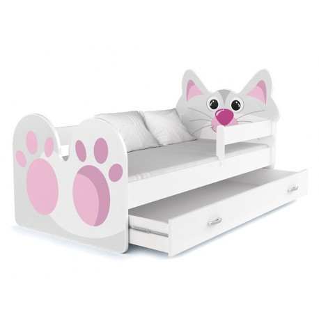 Toddler junior bed Kitty with drawer